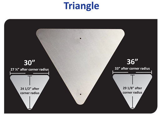 Aluminium Triangle Blanks Sheet