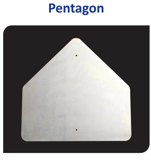 Aluminum pentagon blanks sheets